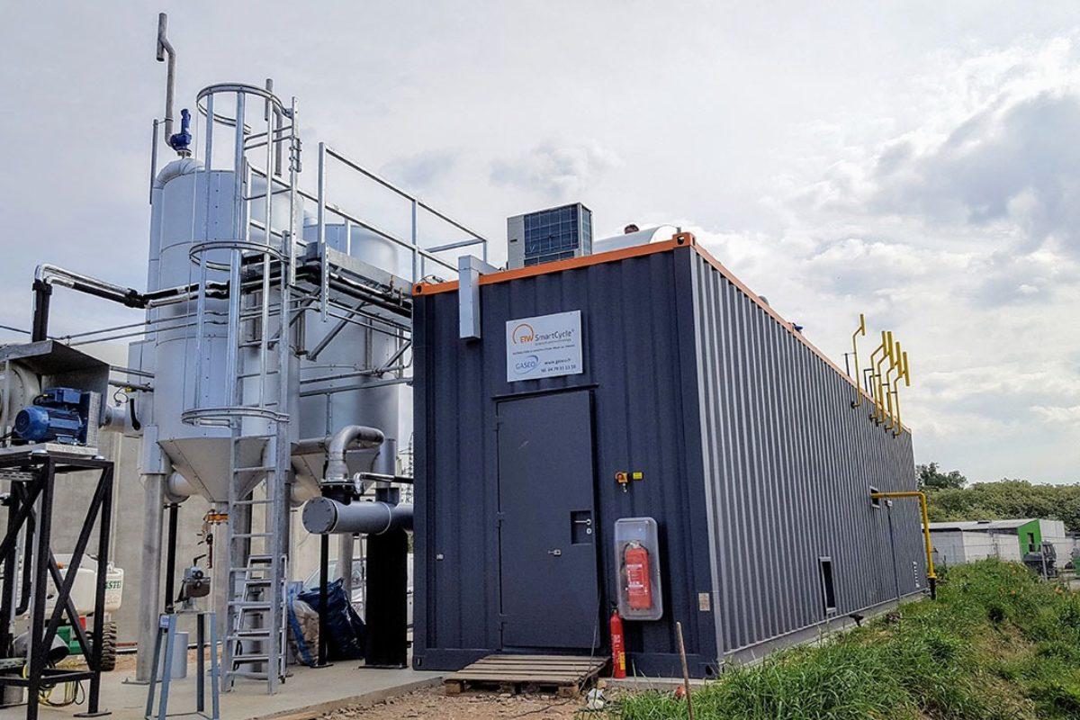 Bas-Rhin: une installation d'épuration de biogaz directement après sa synthèse