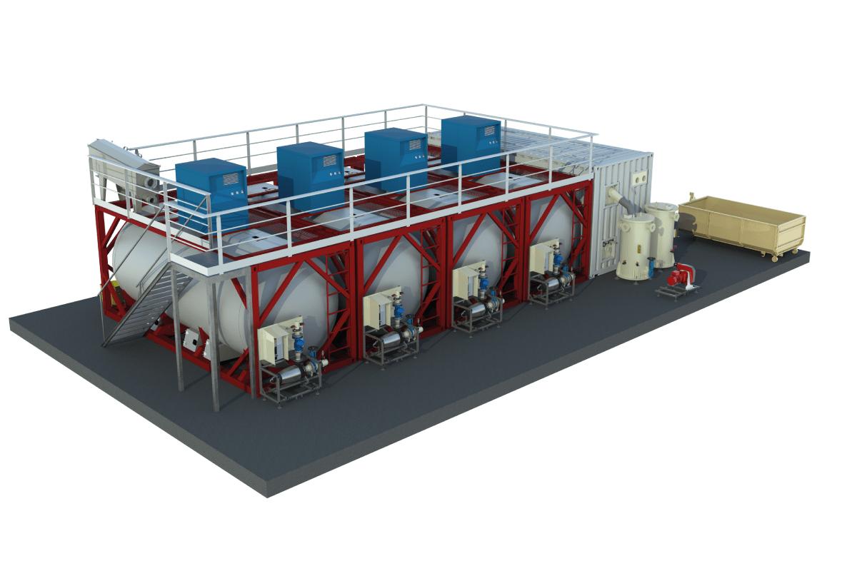 Une station d'épuration containérisée à installation rapide