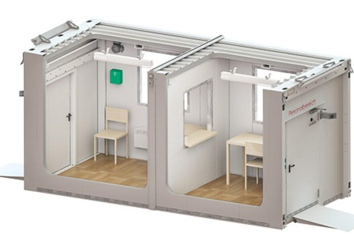 Denios conçoit et fabrique des locaux mobiles de dépistage du COVID-19